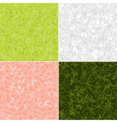 floral color backgrounds vector image