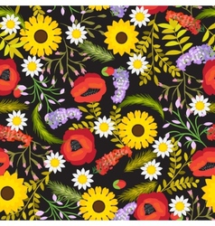 Floral seamless background flowers vector image