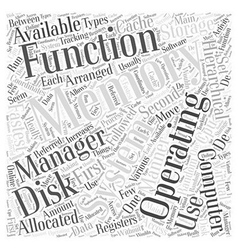 Functions of Operating Systems Word Cloud Concept vector image