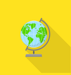 Geography globe icon flat style vector