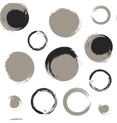 Grunge circles on white background vector image