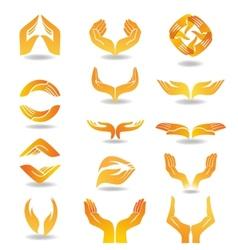 Hands design element vector image