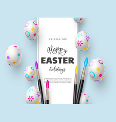 happy easter holiday background vector image