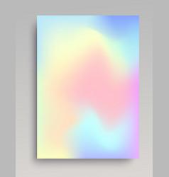 Hologram gradient backdrop vector