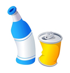Icon can and bottle vector