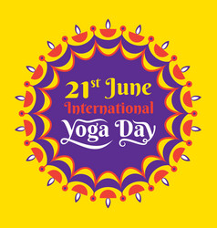 International yoga day poster design vector