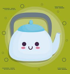 kawaii breakfast food design vector image