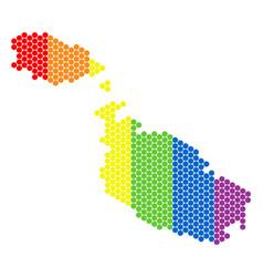 lgbt spectrum dotted malta island map vector image