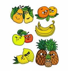 Living fruits vector
