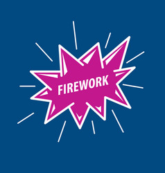 logo for fireworks vector image