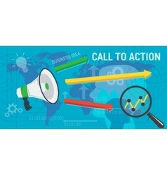 long background CALL to ACTION vector image