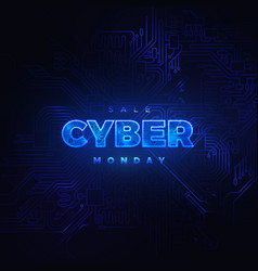 luminous cyber hologram vector image