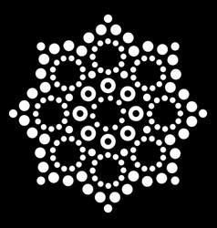 Mandala australian dot paiting design vector
