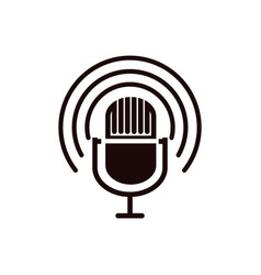 mic podcast icon design template isolated vector image