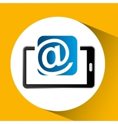 Mobile phone icon mail social media vector