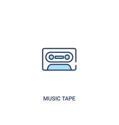Music tape concept 2 colored icon simple line vector