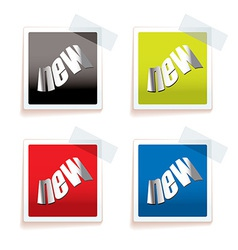New paper tag vector image