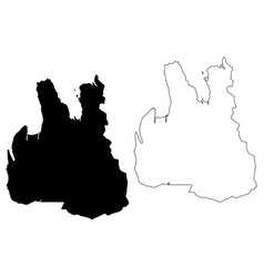 Northwestern region iceland island regions of vector