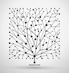 Of points and lines of trees abstract graphics vector