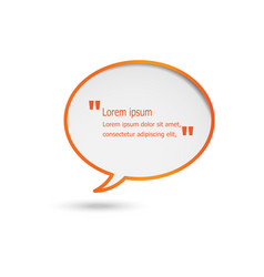 orange speech bubbles isolated on white background vector image