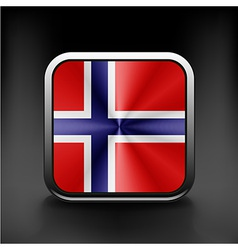 Original and simple Norway flag isolated vector