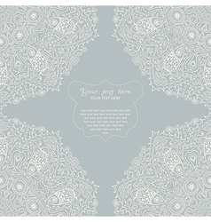 Ornamental corner lace frame background for vector