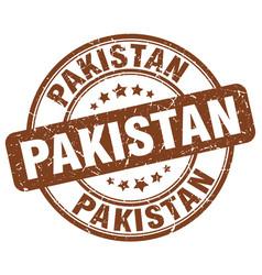 Pakistan brown grunge round vintage rubber stamp vector
