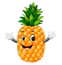 Pineapple with face vector