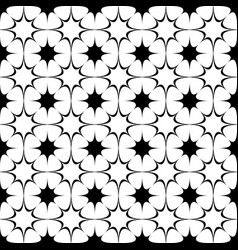 Repeating abstract black and white curved star vector