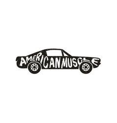 retro american classic car vector image