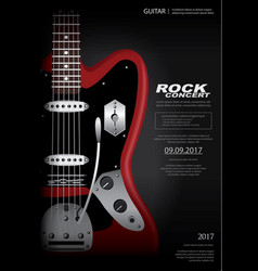 Rock concert poster background template vector
