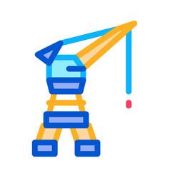 seaport crane icon outline vector image