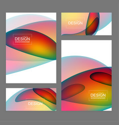 set of fluid color covers vector image