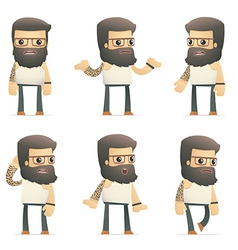 Set of tattoo artist character in different poses vector
