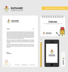 snowman business letterhead calendar 2019 and vector image