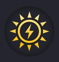 Solar energy icon sign vector