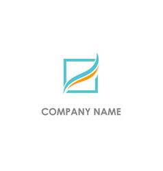 Square wave abstract business logo vector