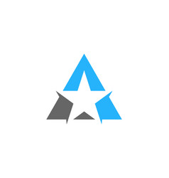 star letter a logo icon design vector image