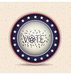 Stars and button of vote concept vector image