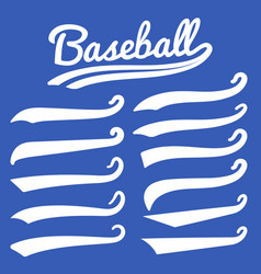 Swash and swoosh vintage swashes baseball vector