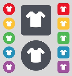 T-shirt Clothes icon sign A set of 12 colored vector image