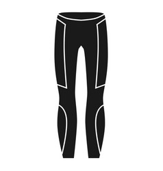 Thermal pants icon simple style vector