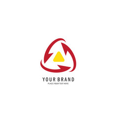 triangle recycle logo vector image