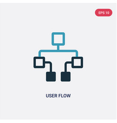 Two color user flow icon from technology concept vector