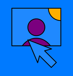 web design elements picture mouse arrow icon vector image