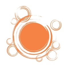 Abstract circles background with blank space vector image