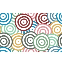Background of colorful curved rounds vector