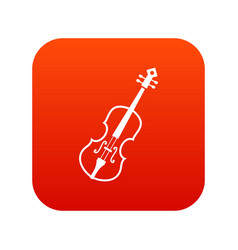 cello icon digital red vector image