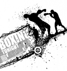 grunge boxing vector image vector image