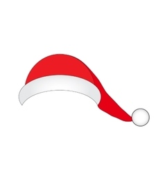 Hat of Santa Claus on a white background vector image